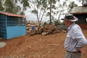 Br. Kevin Delaney looks out over Kibera.